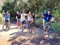 Paseo con bicis en grupo