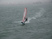 in windsurfing you also skid