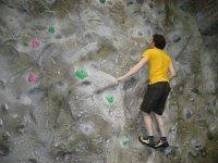 escalador practicando