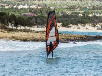 windsurfing near the coast