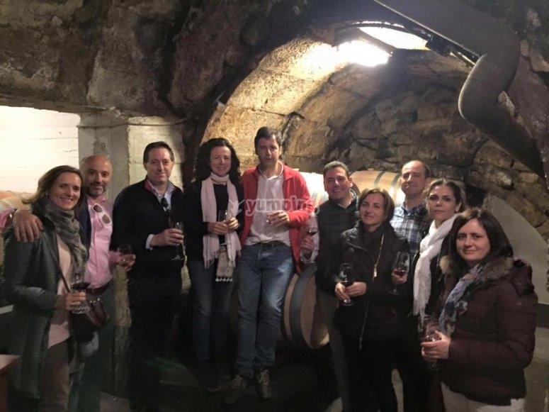 Amantes del vino en una de nuestras visitas guiadas