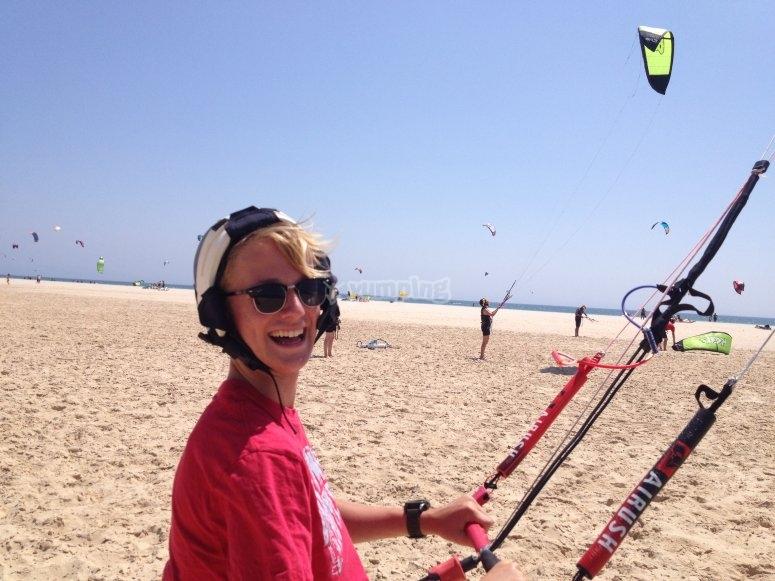 准备好一个下午的风筝冲浪
