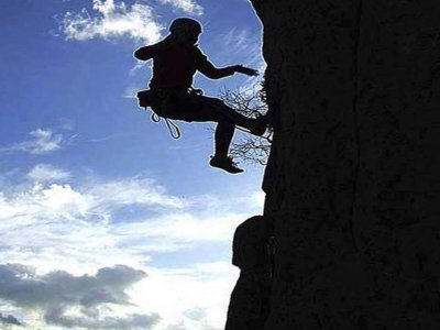Controlled falls in Sports Climbing