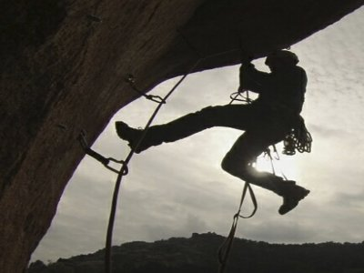 Artificial climbing course on Guadarrama mountains