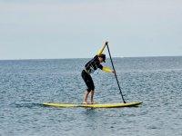 Practicando paddle surf en Chipiona