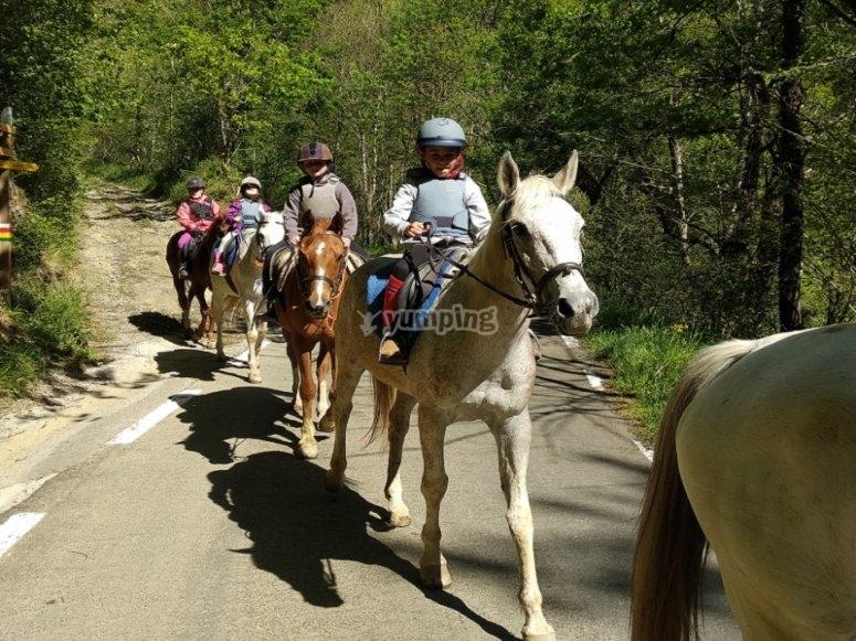 Durante la giornata a cavallo
