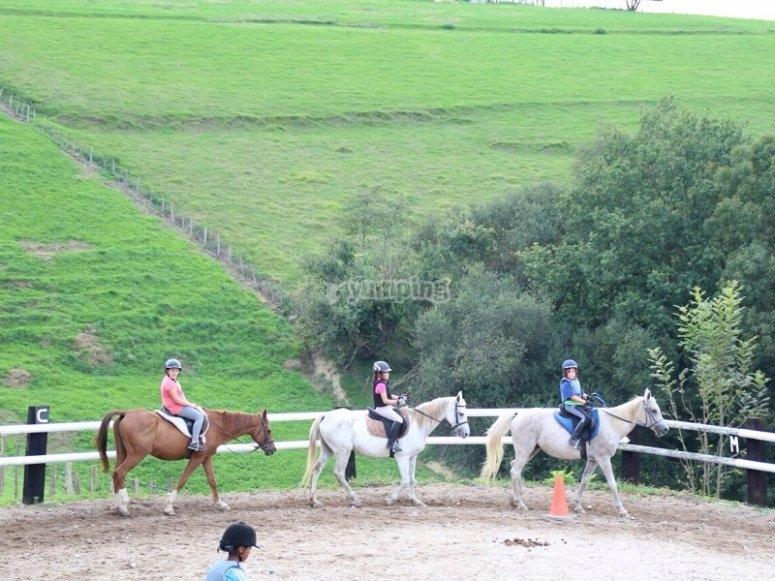 Clases de equitacion en Zaldibia