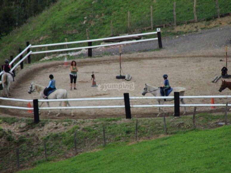 Pista de equitacion en Guipuzcoa