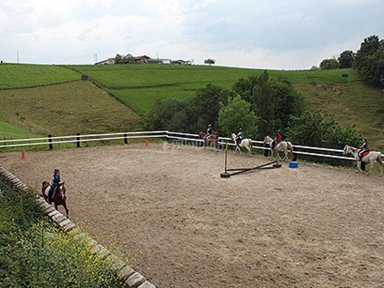 Circuito di equitazione