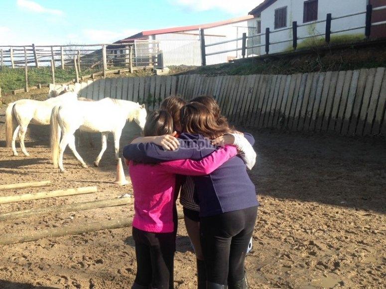 Campamento de equitacion en Zaldibia