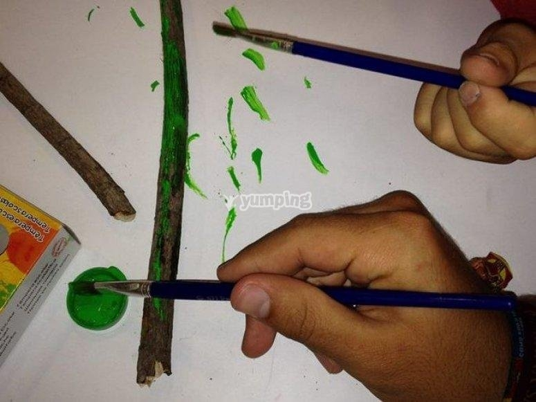 Painting using the temperas