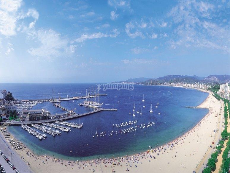 Panoramic view Gran Plamos beach
