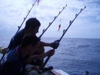 带有捕鱼设备