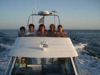 在船上与家人