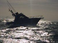 日落时钓鱼船