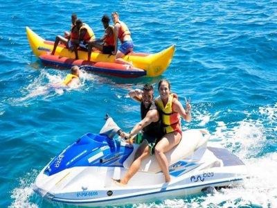 Pack banana boat y jet ski en Ibiza de 25 minutos