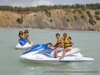 Banana boat y moto de agua en Ibiza