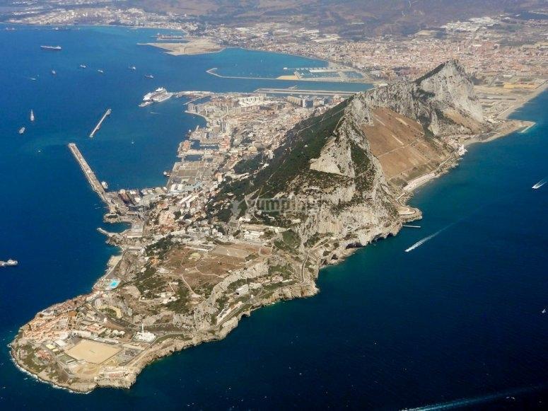 Vista aerea de gibraltar