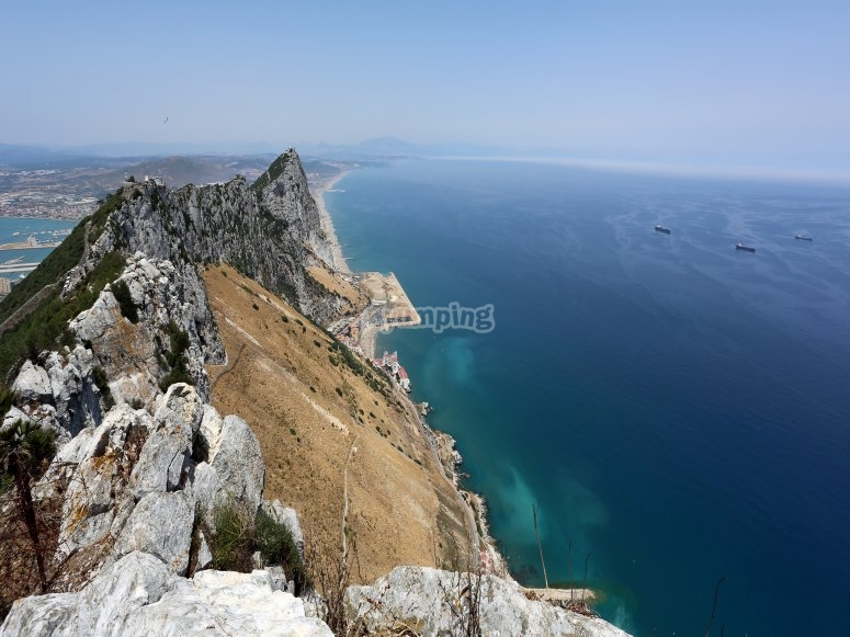 Vista del mar de gibraltar