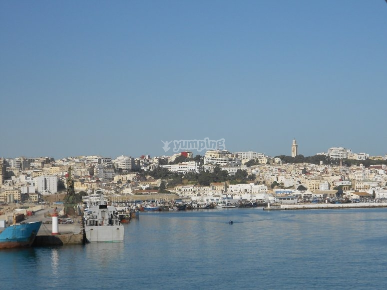 The beautiful views of Tangiers