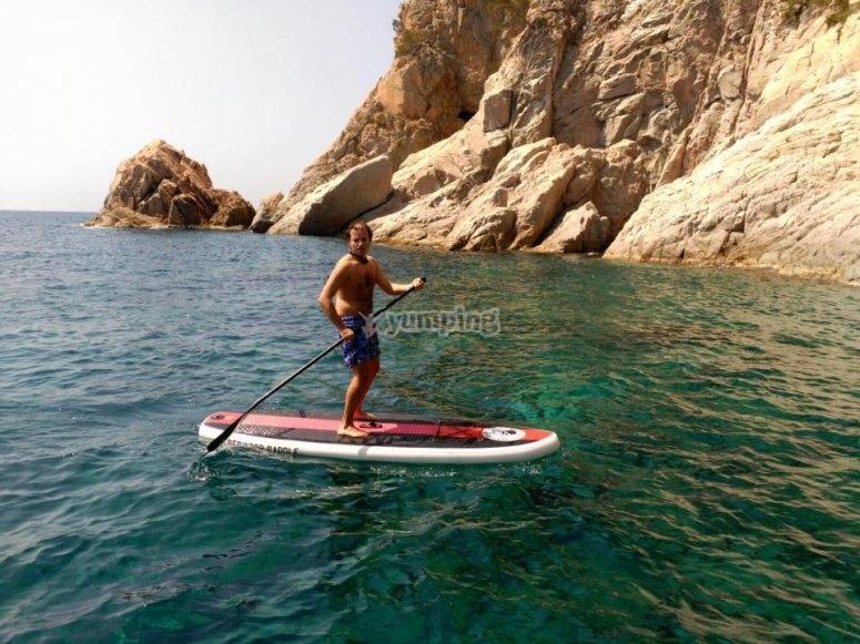 Stand up paddle en la costa brava