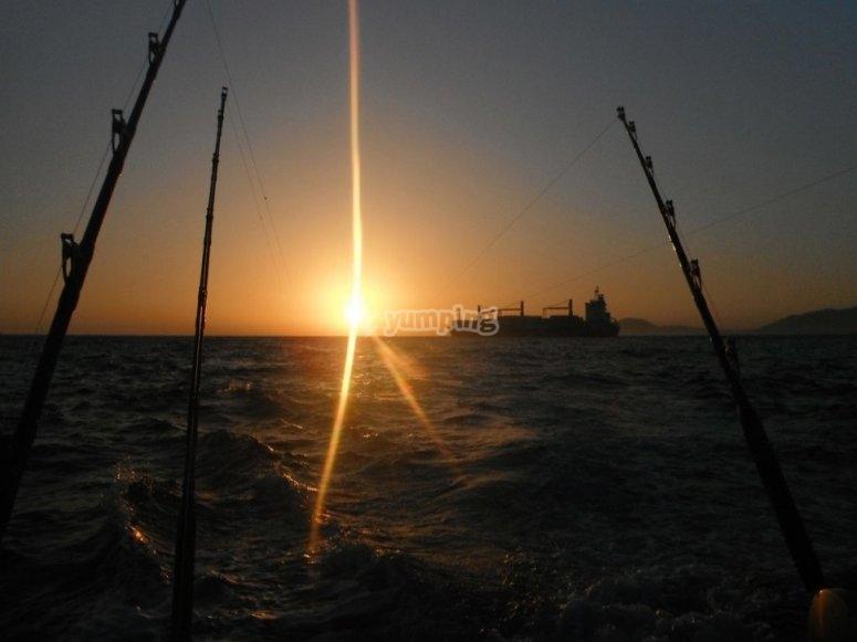 Pescando al atardecer