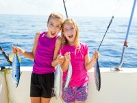 在马略卡岛的家庭钓鱼之旅,3小时