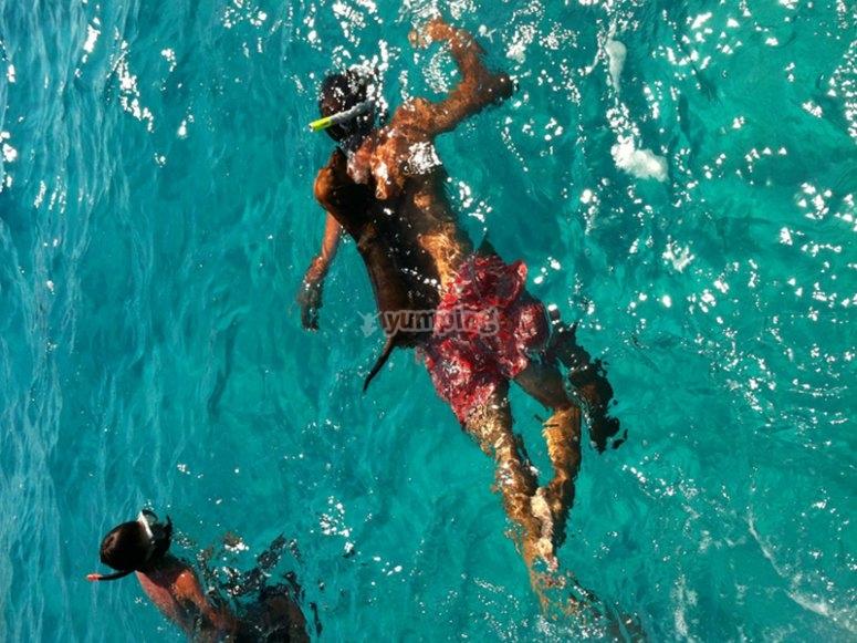 Practicando snorkel