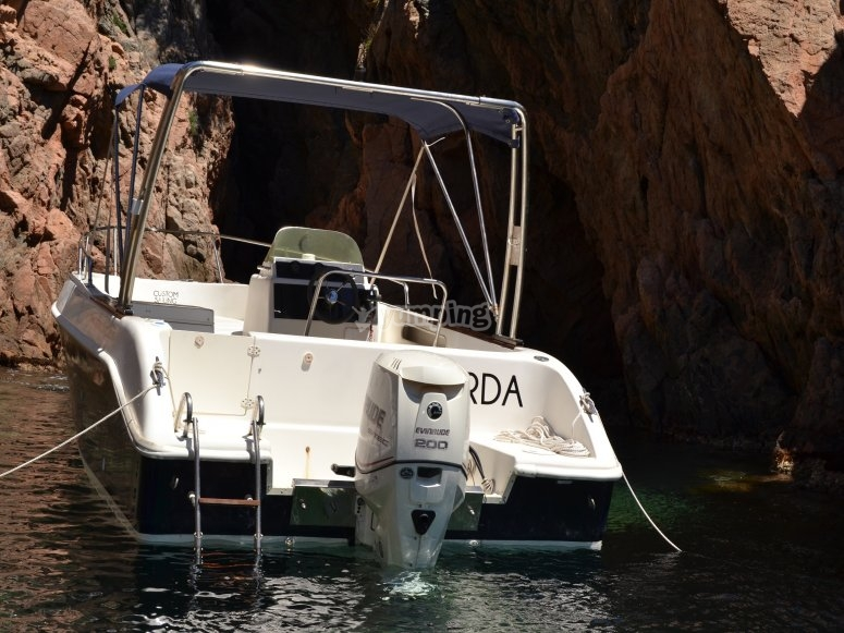 Boat with hood