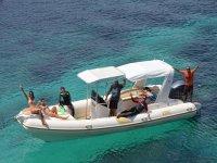 Paseo en barco en Formentera