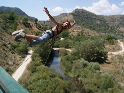 Bungee jump river Cabriel 1st Sunday of month