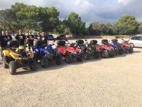 Guided quad biking route through Menorca