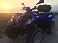 Two-seater quad to rent in Ciudadella