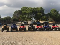 Teambuilding event with quads in Menorca
