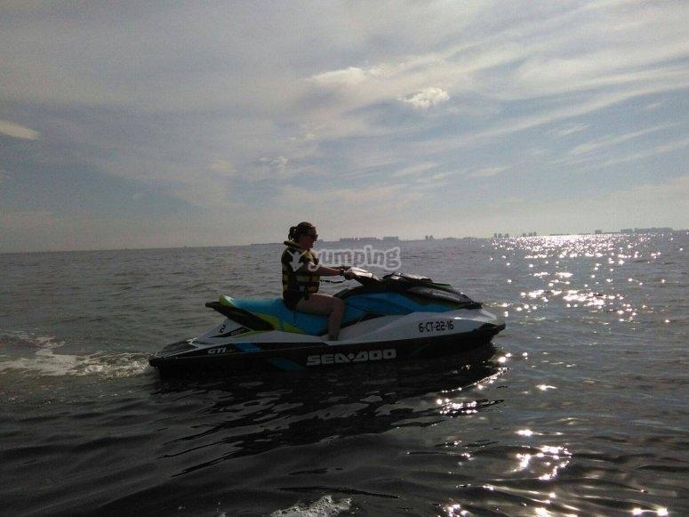 Jet-sky sailing
