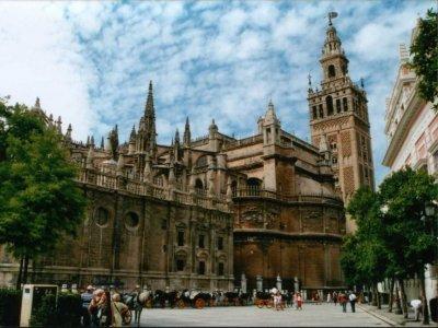 参观Barrio Santa Cruz入口大教堂2小时15分钟