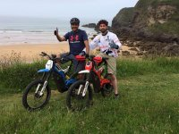 Enduro route along the beaches of Cantabria