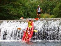 Descenso en canoas para familias río Asón y Fotos