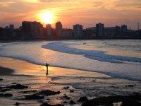 Gijon on the beach