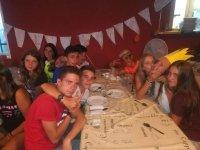Comedor en el campamento en la Sierra de Gata