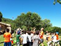 Jugando con globos en la Sierra de Gata