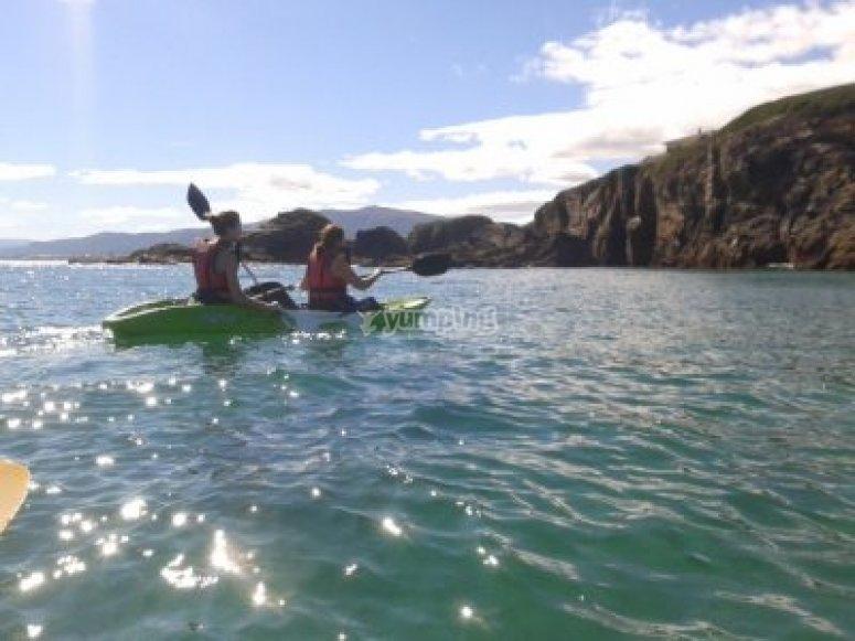 Kayaks en el Masma