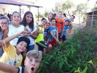 Actividades en el huerto en la Sierra de Gata