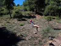 Tirolina en el campamento en la Sierra de Gata