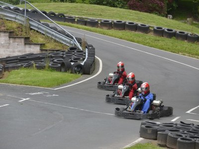 Carrera de karting en Madrid, 10 minutos