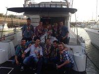 Despedida de soltero en barco río Guadalquivir 4 h