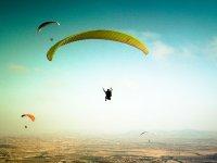 Paragliding above Alicante sea and mountains 40'
