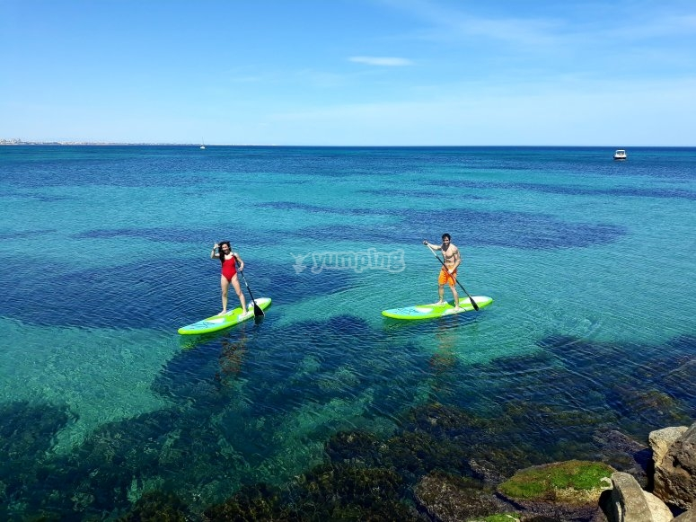 Paddle surf initiation