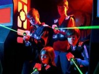 Laser tag game and drink in Badalona