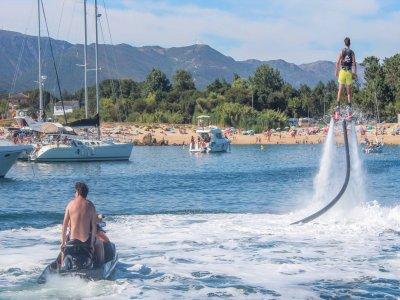Goleta, Flyboard y Paddle sup en la Ría de Arousa